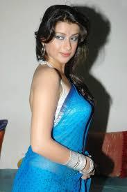 madhurima blue transparent saree stills