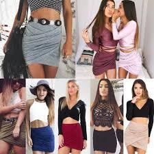 2018 fashion women short skirts womens cross fold bandage