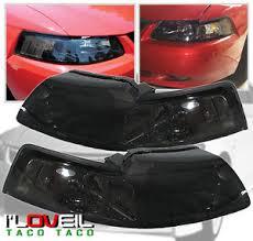 ebay mustang headlights 99 04 ford mustang svt gt smoke lens headlights replacement ls