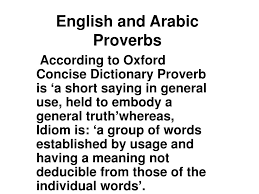 popular arabic sayings ppt english and arabic proverbs powerpoint presentation id 633451