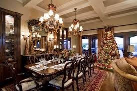 dining room buffet table decorating ideas with victorian christmas