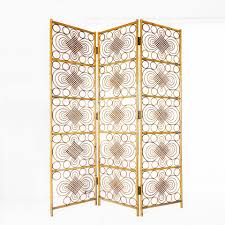 Mid Century Three Panel Wicker Room Divider 1950s For Sale At Pamono