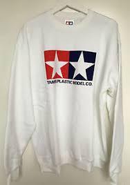 tamiya 66859 official tamiya logo white jumper sweatshirt extra