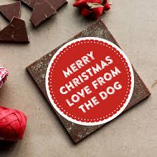 chocolate gift merry christmas from the dog card by do you