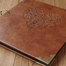 leather photo albums engraved 50 pages personalized monogrammed engraved photo album wedding