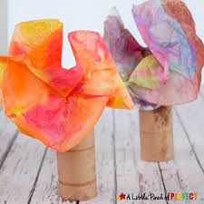 colorful fall tree coffee filter craft for