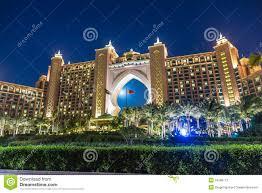 hotel atlantis atlantis the palm hotel in dubai united arab emirates stock