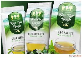 Teh Mint sribu packaging design design packaging teh kemuning tja