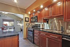Slate Backsplash Tile Kitchen Traditional by Traditional Kitchen With One Wall U0026 Undermount Sink In Seattle Wa