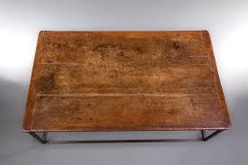 sold a superb spanish walnut and metal coffee table michael