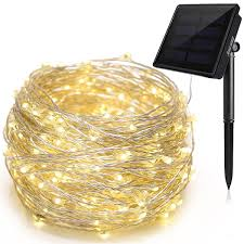 Patio String Lights White Cord by Solar String Lights 72 Ft Waterproof 8 Modes Ankway Upgraded