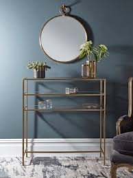 small glass console table gold glass console table