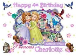 sofia the cake topper a4 edible sofia the personalised icing sheet birthday