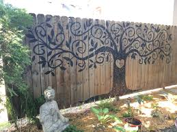 tree ideas for backyard tree of life painted fence landscaping pinterest painted