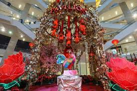 malaysian malls with auspicious chinese new year decorations 2017