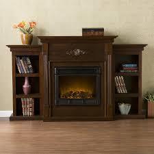 shop boston loft furnishings 70 in w espresso wood electric