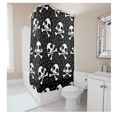 compare prices on shower curtains black online shopping buy low creative personalized skull small dots digital printing white black shower curtain polyester waterproof bathroom shower curtain