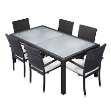 Patio Table And 6 Chairs Outdoor Wayfair Patio Furniture Patio Table And Chairs