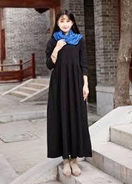 linen dress cotton maxi dress casual loose long dress custom made