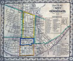 Street Map Of Boston by Cincinnati Historical Maps University Of Cincinnati