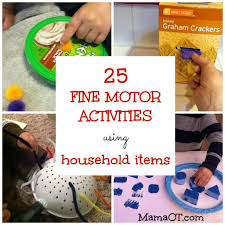 25 fine motor activities using household items