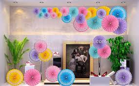 hanging paper fans new design wedding party supplies hanging ceiling paper party