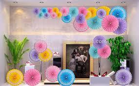 hanging decoration diy wedding paper fan party festival supplies decorative fan
