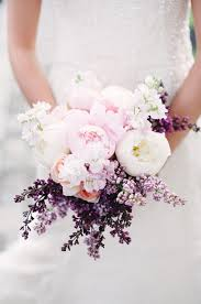 wedding flowers purple lilac wedding bouquets photos brides