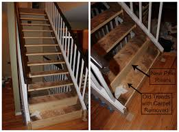 Stairs With Open Risers by Open Tread Stairway Remodel Our Life Our Love