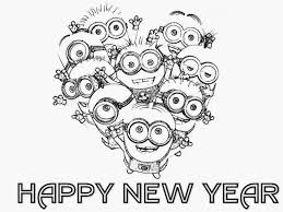 happy new year preschool coloring pages minion happy new year coloring page for kids happy new year