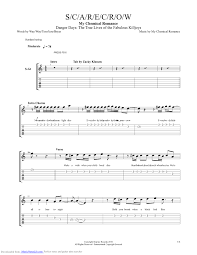 My Chemical Romance The Light Behind Your Eyes Scarecrow Guitar Pro Tab By My Chemical Romance Musicnoteslib Com