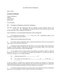 sample employee termination letter for cause sample termination