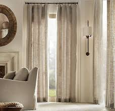 Luxury Linen Curtains Pure Natural Textured European Linen Curtains Drapes 2 Panels