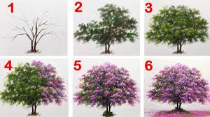 how to paint a tree with acrylic lesson 14