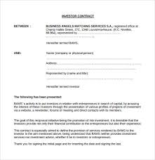 investment contract templates 9 download free documents in pdf