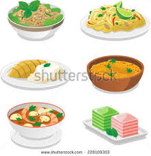 cuisine stock food dishes vector illustrations stock vector 228109303