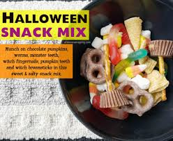sweet and salty halloween snack mix while he was napping