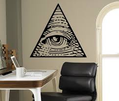 Wall Murals Amazon by All Seeing Eye Pyramid Wall Decal Illuminati Symbol Vinyl Sticker