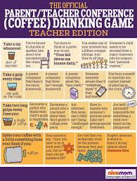 Drinking Game Meme - the official parent teacher conference coffee drinking game