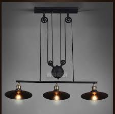 industrial pendant lighting fixtures nordic industrial pendant l lights rh loft pulley adjustable