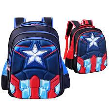 shop captain america bags boys 3d cartoon