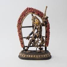 statue with vajrayogini naro kacho brass statue with antique finish