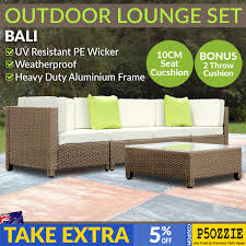 Bali Rattan Garden Furniture by Outdoor Lounge 4 Seater Garden Furniture Wicker 5pcs Rattan Sofa
