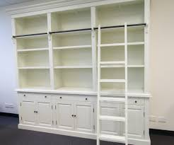 white shelf hutch unit with sliding ladder just decorate