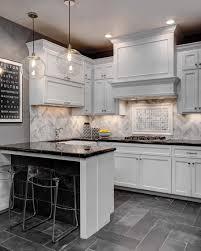 Natural Stone Kitchen Backsplash Kitchen Design Dark Concrete Flooring Superb White Stylish Small