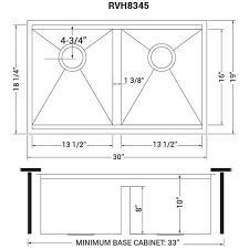 bowl kitchen sink for 30 inch cabinet ruvati 30 inch workstation ledge 50 50 bowl