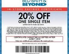 Printable Bed Bath And Beyond Coupon Bed Bath And Beyond Coupon A Item For Shopping Printable