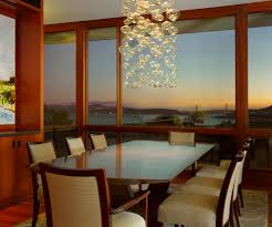 bubble light with ceiling and wall color the same dining room
