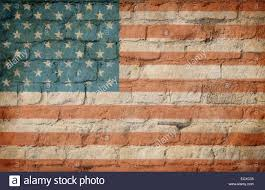 How To Paint American Flag Usa Flag Painted On Old Brick Wall Stock Photo Royalty Free Image