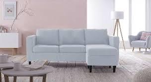 habiller un canapé salon cocon avec canape angle reversible bleu achat design